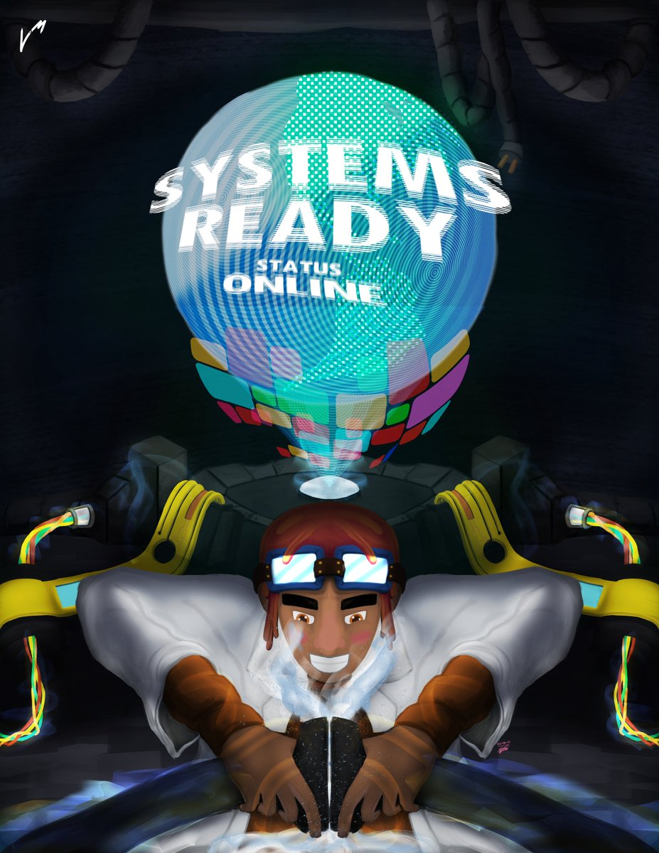 Systems Ready | Status: ONLINE  We're plugged in and ready for the future! All hand drawn and made in Photoshop.  #artph #ArtistOnTwitter #originalcharacter #conceptart #PenTabGang #nuggets