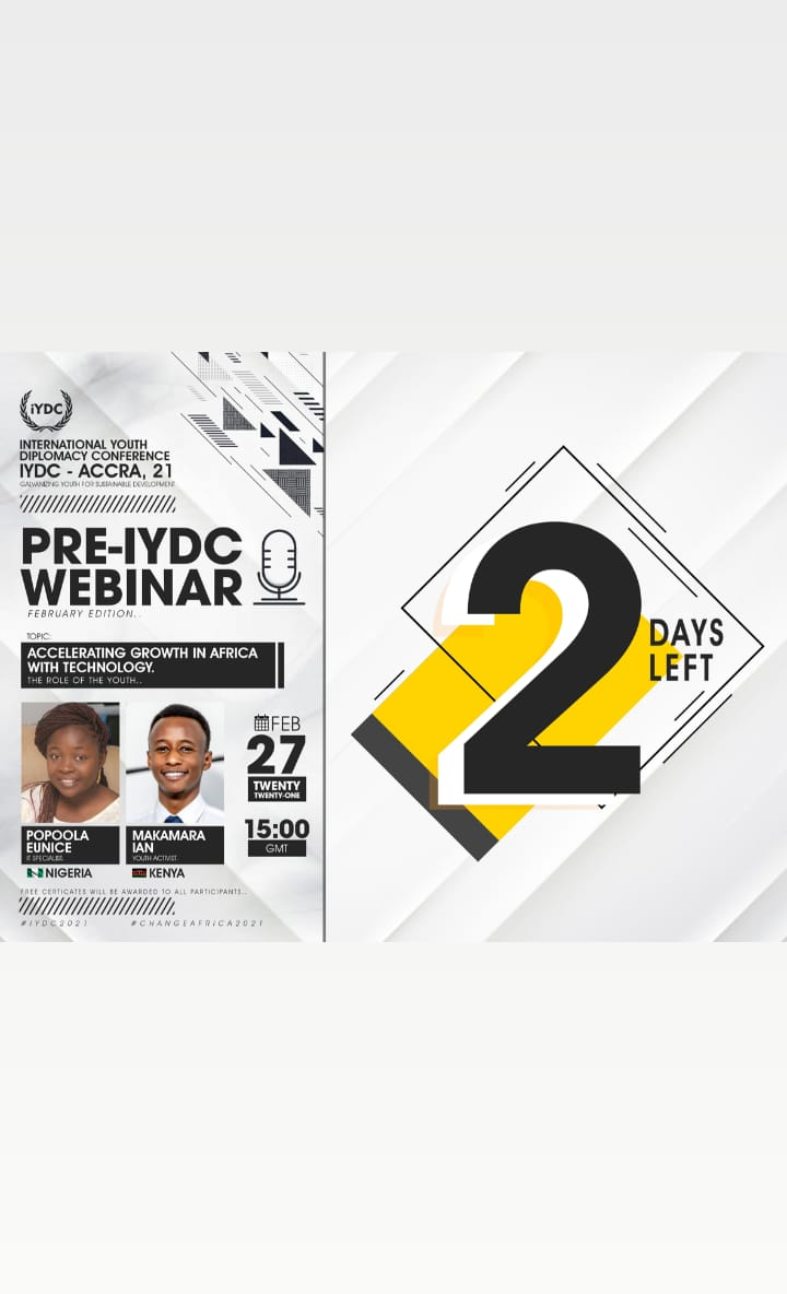 Join in the discussion this saturday 15:00 GMT  Click link to register for free.    Certificates will be issued to all participants.   #iydcaccra2021 #thursdayvibes #leadership #OnThisDay #technology #innovation #COVID19  #thursdaymorning #webinar #Tbt