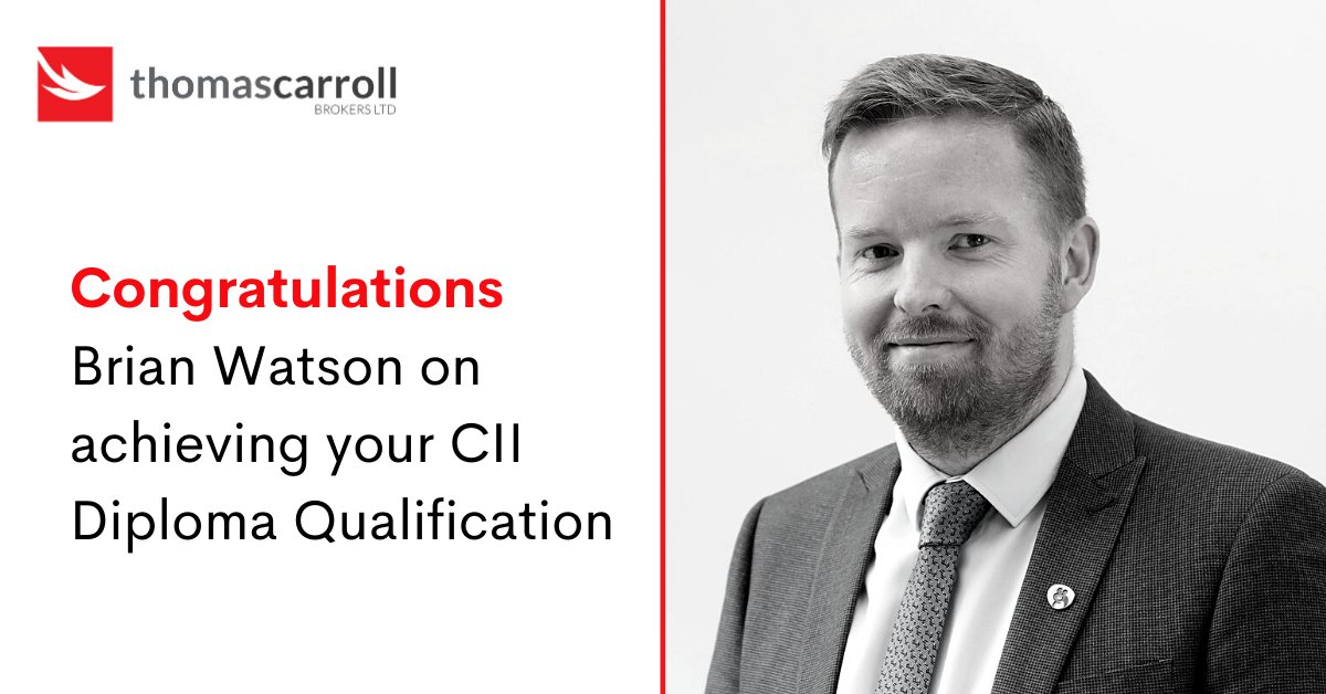 Our colleague, Brian Watson has recently gained his #CII Diploma with the @CIIGroup   Fantastic achievement, Brian - well done! 👏 #Thursdayvibes