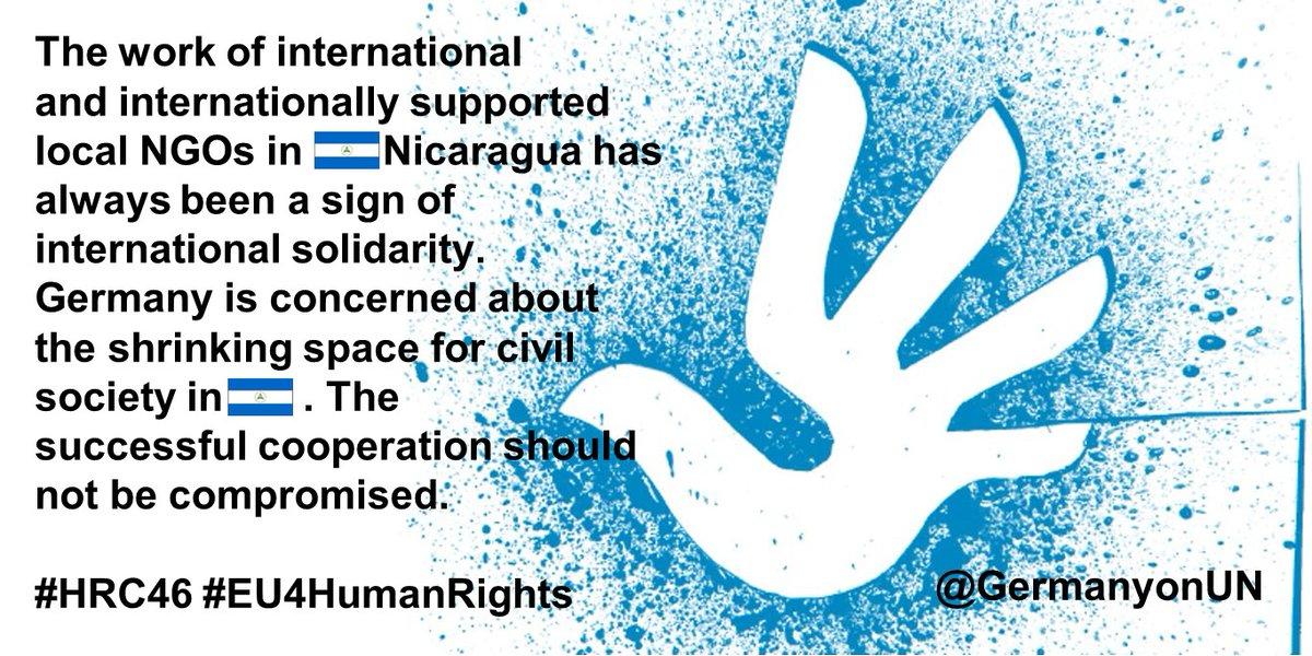 Replying to @GERMANYonUN: #HRC46 #EU4HumanRights