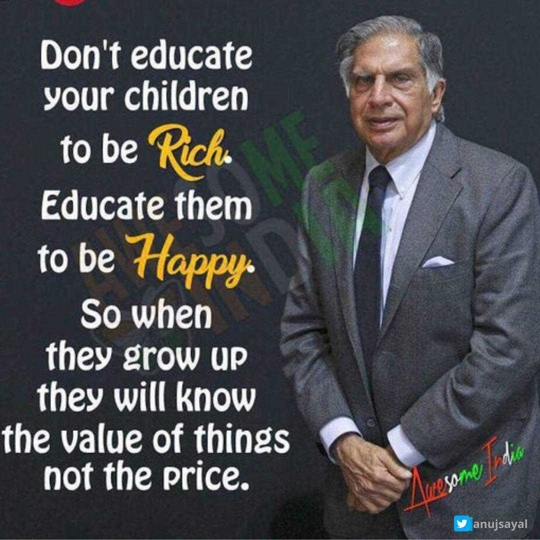 Don't educate your children to be rich. #MotivationalQuotes #SundayThoughts