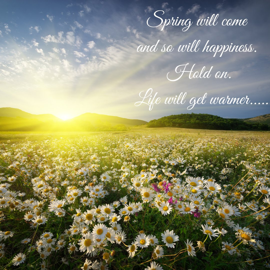 Spring will come and so will happiness. Hold on. Life will get warmer ❤️ Anita Krizzan #foxybydesignuk #onedayatatime #innerstrength #youarenotalone #togetherstronger #lightattheendofthetunnel #togetherwecan #staystrong #coviddone #lockdownlife #hope