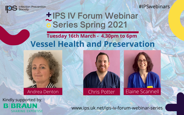 FREE Vessel Health and Preservation IV Forum with speakers   @eadents, @elaineIPCN and @CJPotter84. Tues 16th March 4.30 GMT. For details and to register …… #IPSwebinars #IPC #education #infectionprevention