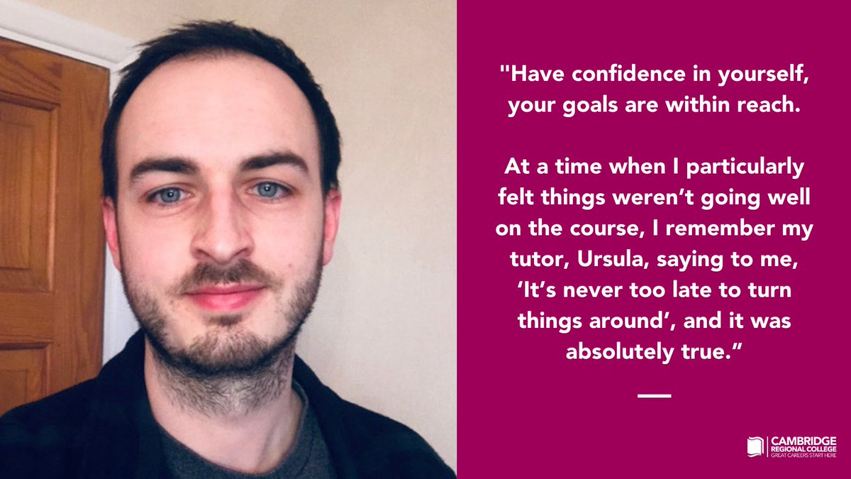After a break from education Callum realised his passion for computer science and, with a renewed sense of purpose, he went on to study Access to Science at CRC. Read Callum's story, https://t.co/1h0XoOwqHS  #WeAreCRC #LoveOurColleges #HigherEducation https://t.co/2d2dpAvdzZ