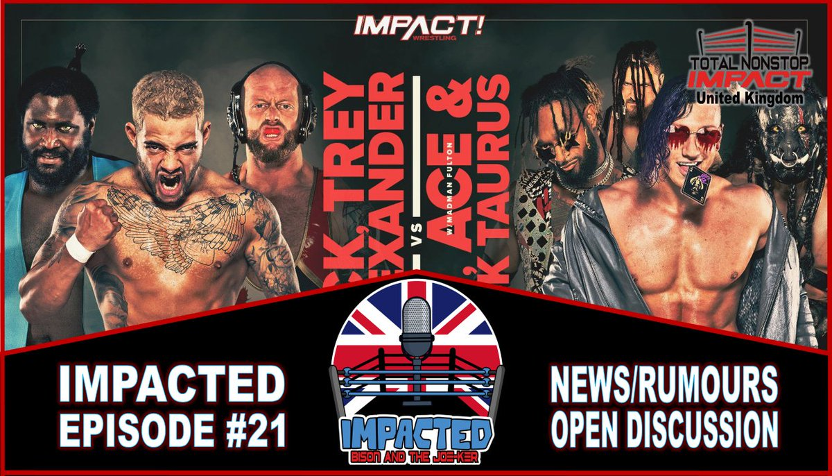 Just recorded another great #IMPACTED show with the TNI-UK team of @JOKEmptySpace and @SimplySteve311 so much to talk about....this Friday via the @WeTalkImpact Network on #YouTube #SoundCloud #Spotify #iTunes or where ever you listen to your fave shows. #IMPACTonAXSTV #IMPACTUK