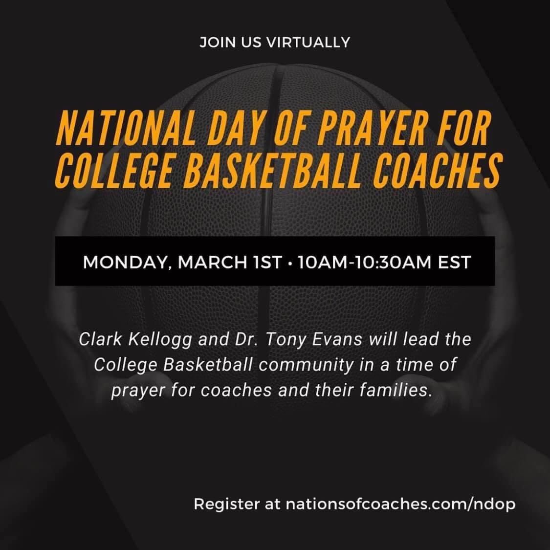 Tony Evans to Lead National Day of Prayer for College Coaches on March 1 With South Carolina State Coach Murray Garvin and CBS College Basketball Analyst Clark Kellogg
