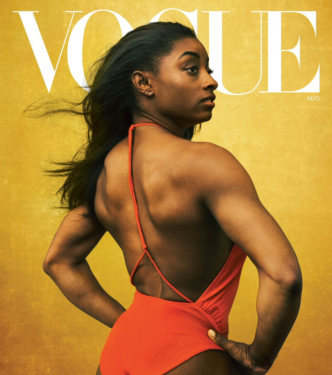 American gymnast Simone Biles. Raised in foster care, kinship care, and later adopted. Biles is the most decorated American gymnast of all time.