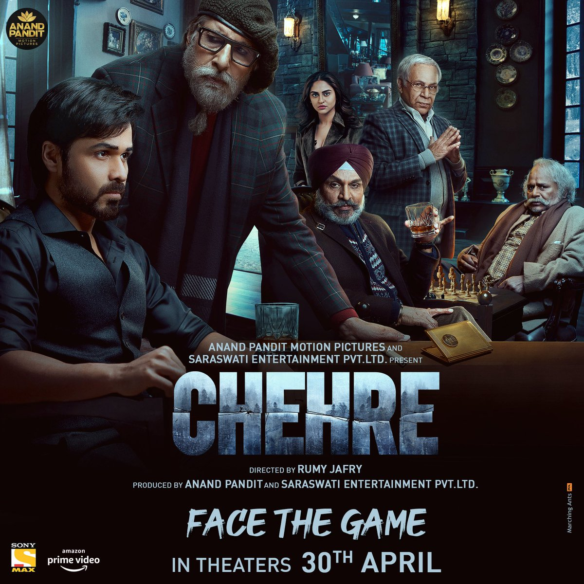 #Chehre Uncover the real #Chehre, the much-awaited mystery-thriller, in theatres on 30th April 2021. #FaceTheGame @SrBachchan @emraanhashmi @anandpandit63 #RumyJafry @annukapoor_ @krystledsouza @SiddhanthKapoor #RaghubirYadav #DhritimanChatterjee #SaraswatiFilms @apmpictures