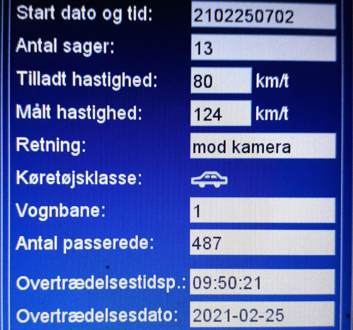 Fotovognen har været på Bovvej mellem Agerskov og Toftlund i Tønder komm. Dette er vores fokusstrækning hvor vi vil måle oftere end andre steder. 32 blev blitzet deraf et klip i kørekortet, hvor den hurtigste kørte 124 km/t. Sænk farten.Bovvej er ikke en motorvej #atkdk #politidk https://t.co/qrd0pZdTAj