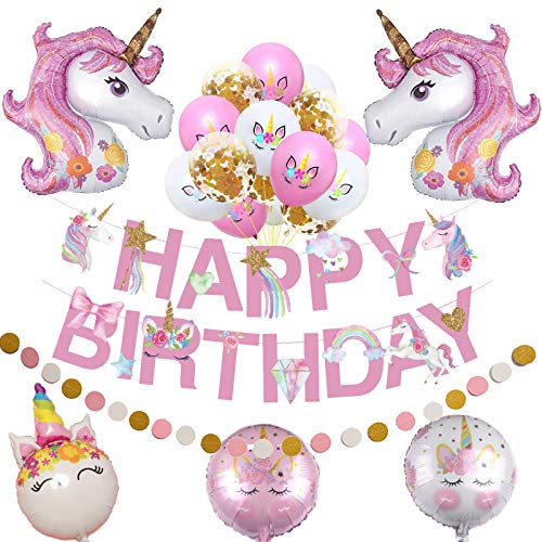 50% off Unicorn Birthday Decorations Clip the 50% coupon. No promo code needed.   2