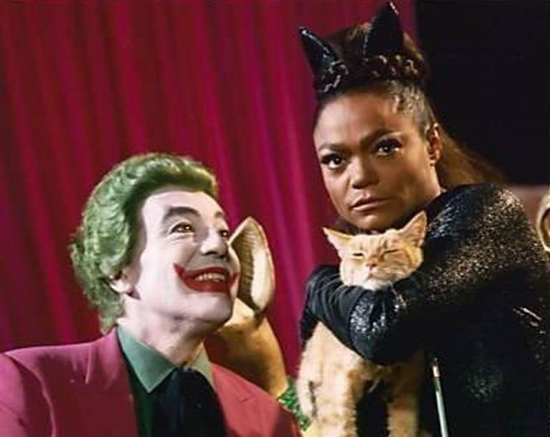 Move over, Harley Quinn.... 🤡🐱  #Joker #Catwoman #CesarRomero #EarthaKitt #Legends #Batman #60s #ThrowbackThursday #Cats