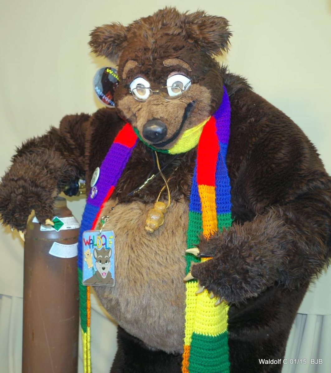 I somehow don't think this is what they mean when they say #FatTuesday #MardiGras  #Waldolf trying to be a Parade #balloon but not being successful  #fursuit #fursuiter #fursuiting #Bear #Costume #Helium #balloon