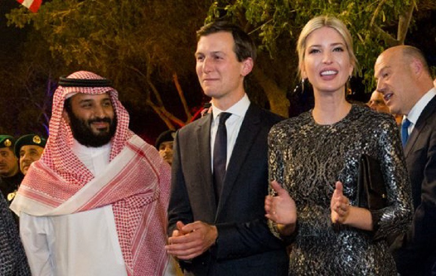Never forget that after the killing of Jamal Khashoggi, Kushner became Prince bin Salman's biggest defender and he's the same dude that can't get a security clearance