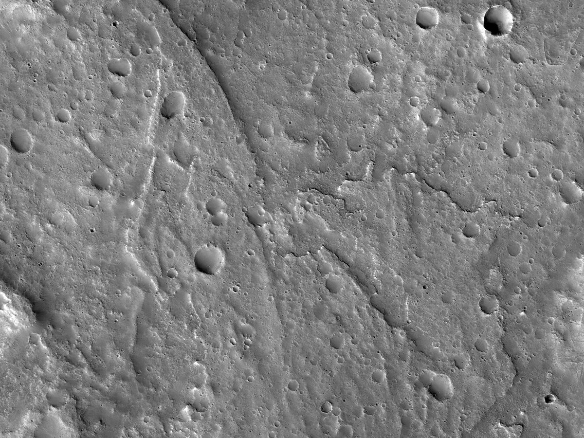 HiPOD 25 Feb 21: An Inverted Channel West of Idaeus Fossae This image shows a multi-thread inverted fluvial channel, to the west of Idaeus Fossae, likely from the mid-Noachian epoch on Mars (about 3.9 billion years ago). uahirise.org/hipod/ESP_0570… NASA/JPL/UArizona