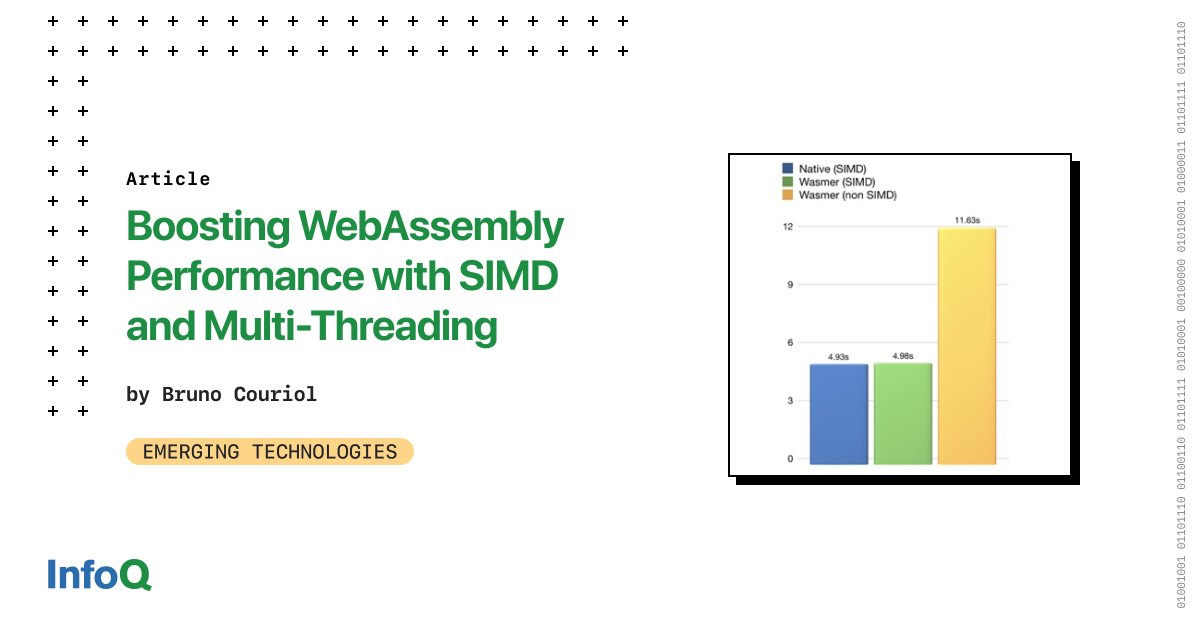 Recent efforts have shown how Single Instruction, Multiple Data (SIMD) parallelism, and multi-threading may radically improve the performance profile of #software ported to #WebAssembly to run in browser and non-browser environments. Read more: bit.ly/3aDHFo2