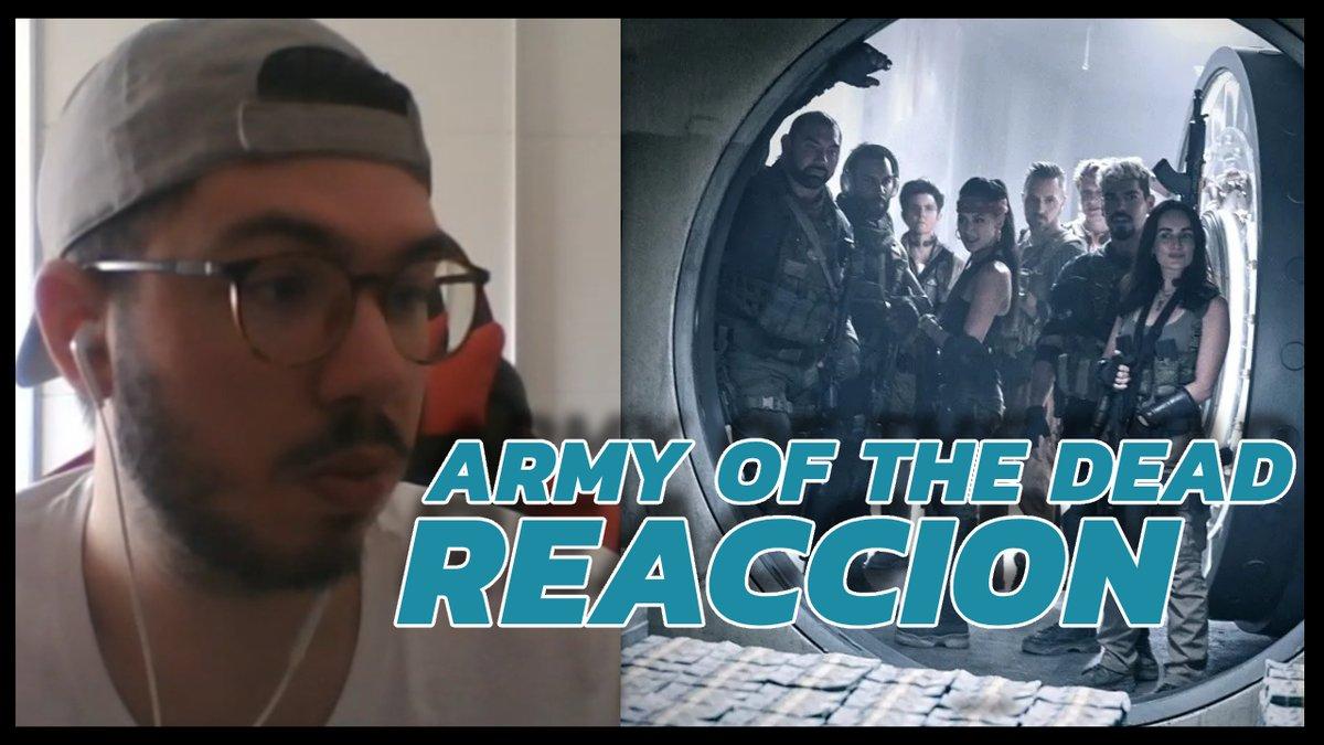 🚨 NUEVO VÍDEO - #ArmyOfTheDead  🚨  ¡Os traigo mi reacción al tráiler de ARMY OF THE DEAD, la próxima película de Zack Snyder! ¿Zombies y atracos en Las Vegas? ESTOY DENTRO. @NetflixES   ¡RT AYUDA! ✌️
