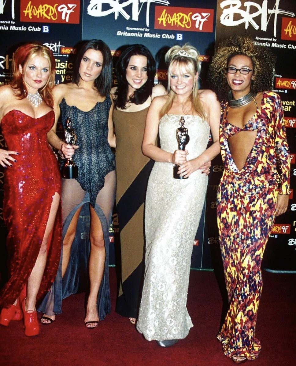 Replying to @GeriHalliwell: Girls together - we won! 😉💃#followyourdreams