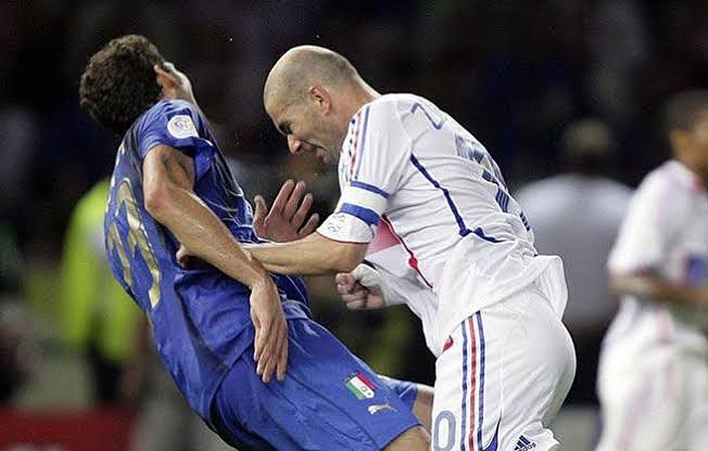 Zidane and Materazzi #Football #nostalgie #goals #team #dream #messi #ronaldo #love #TagsForLikes #iphoneonly #instagood #bestoftheday #20likes #photooftheday #amazing #smile #like4like #look #picoftheday #food #instadaily #followme #follow #summer #TurkishStudentsLivesMatters
