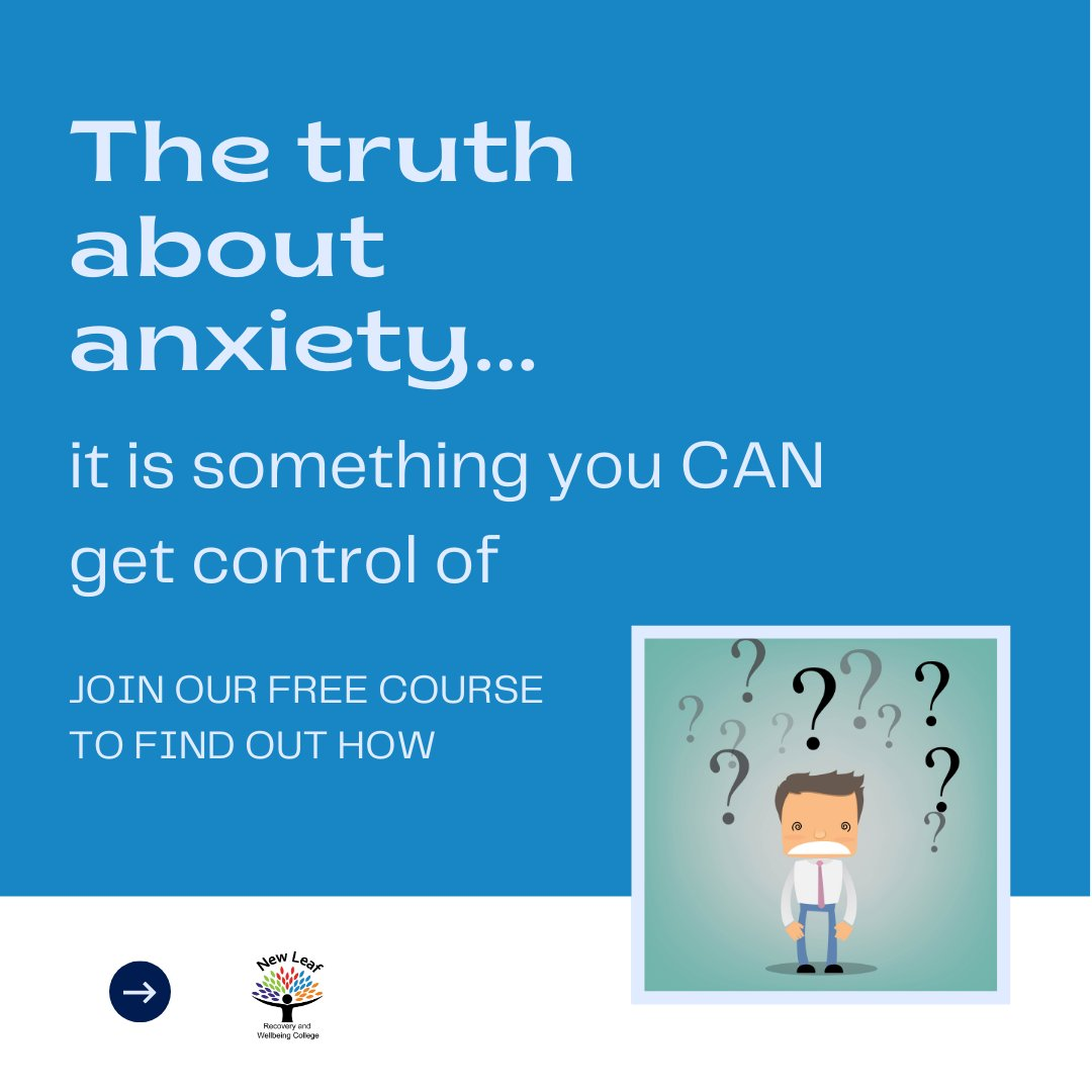 Book your place for our #free understanding #anxiety course here:  #wellbeing #mentalhealth