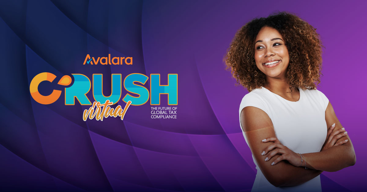 Our fifth annual #tax conference, #AvalaraCRUSH, will be completely virtual on May 27, 2021. Join us and hear from experts, get resources for your industry, and take advantage of a flexible schedule.   Learn more and register at  https://t.co/6R6QsARXHD https://t.co/f7b0bRaLPY