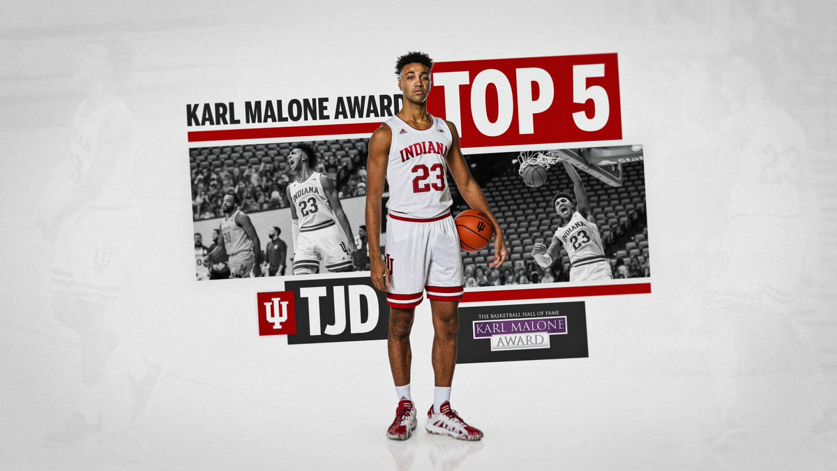 Replying to @IndianaMBB: Congratulations, TJD! 👏  A finalist for the @HoopHall #MaloneAward: .