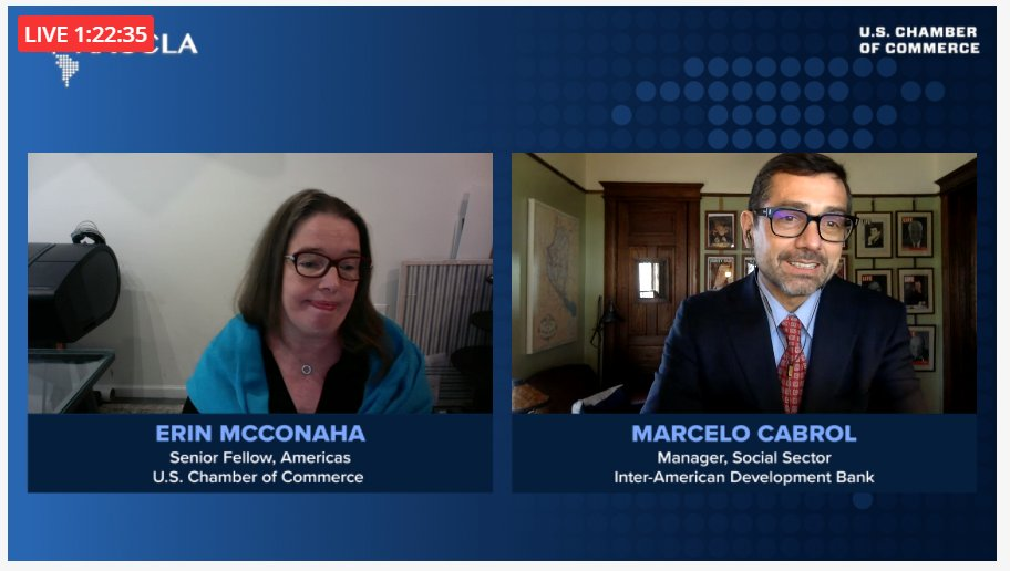 test Twitter Media - .@the_IDB's Manager for the Social Sector @marcelocabrol giving an update on the @the_IDB's role in helping deploy the #COVID19 Vaccine Across the Hemisphere. He's joined by @USCC_Americas Senior Fellow Erin McConaha. #AACCLA https://t.co/R0CZg4JDSF