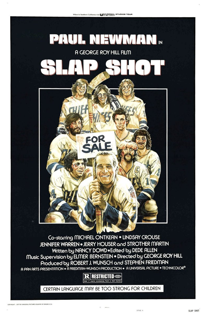 Replying to @RetroNewsNow: 🎬'Slap Shot' starring Paul Newman premiered in theaters 44 years ago today, February 25, 1977
