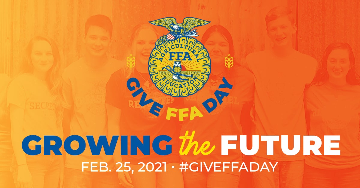 Today is #GiveFFADay! During 11 am-12 pm CST our designated hour, @AmFam will match all donations, up to $10,000, to the National FFA Organization. Please donate and help grow the future leaders of agriculture and the world! Link to donate: