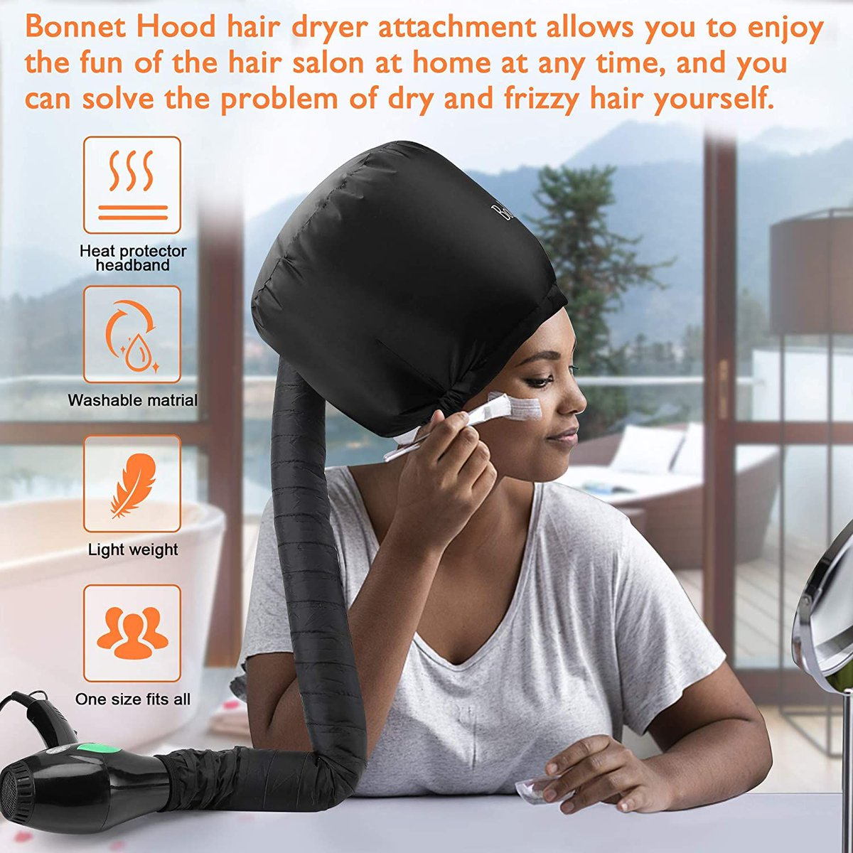 ad: Bonnet Hair Dryer  Clip the coupon on page  Link0 Link0