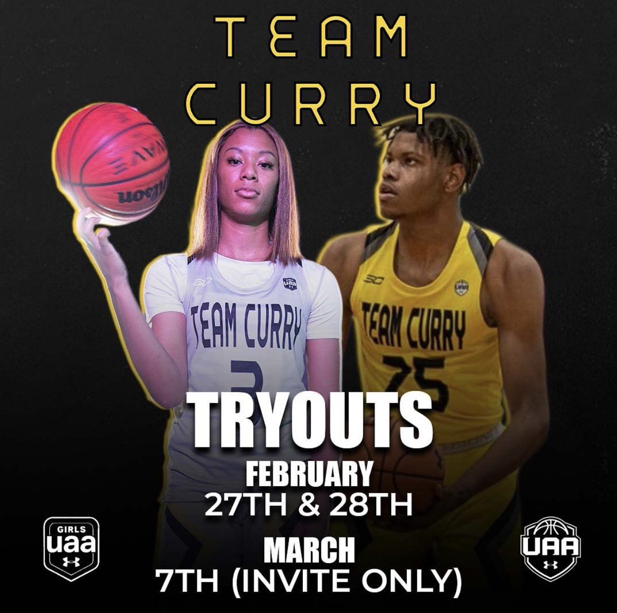 Tryouts are only a few days away! Hit the link below for more information! #GUAA #UAA #CURRYBRAND