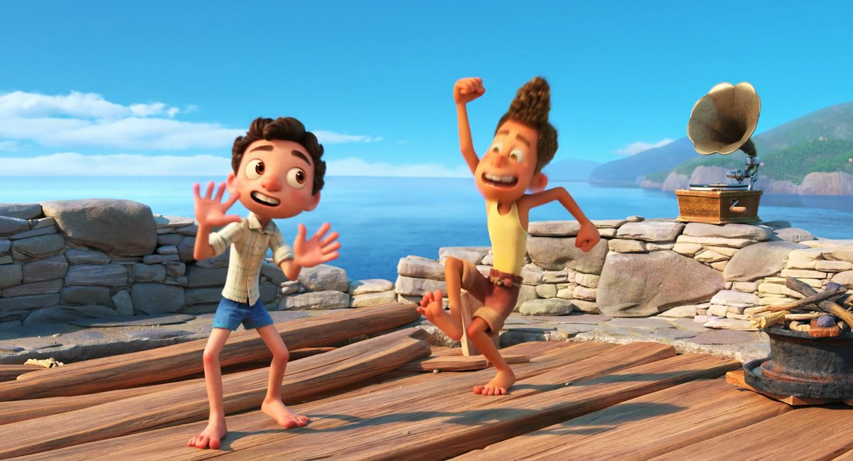 """""""This is gonna be the best summer ever""""  Pixar's Luca follows two boys (err, sea monsters) as they spend an unforgettable summer on the Italian Riviera. Coming this June."""