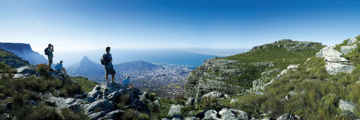 Climb Table Mountain ⛰️ one of the world's most famous mountains.