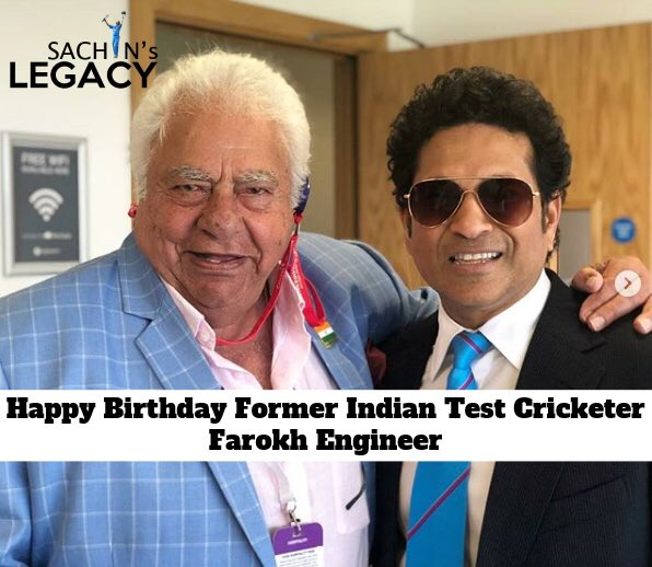 Wishing former #indiancricketteam player #FarokhEngineer a very happy birthday  #INDvENG   -A post from @sachin_rt pakistani fan page