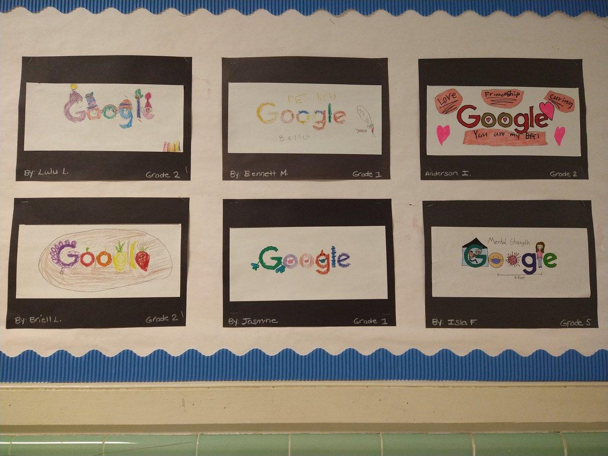 Our @RV_Rockets love to doodle @GoogleDoodles and show their inner strength! @DenvilleSchool #rvrocketpride #DoodleForGoogle
