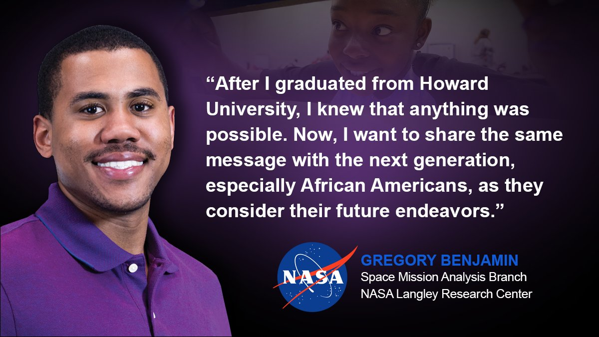 Greg Benjamin always dreamed of working at @NASA. Through @AMAInc62, his dream of supporting NASA's missions became a reality here at @NASA_Langley. He now hopes that other African Americans will have the chance to pursue their dreams, on Earth and beyond. #BlackHistoryMonth