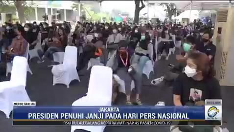 Sesuai yang dijanjikan Presiden Joko Widodo pada Hari Pers Nasional pada 9 Februari lalu, vaksinasi covid-19 terhadap insan pers mulai terlaksana hari ini. #MetroHariIni #KnowledgeToElevate