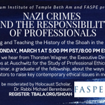 Image for the Tweet beginning: Join FASPE Executive Director Thorsten
