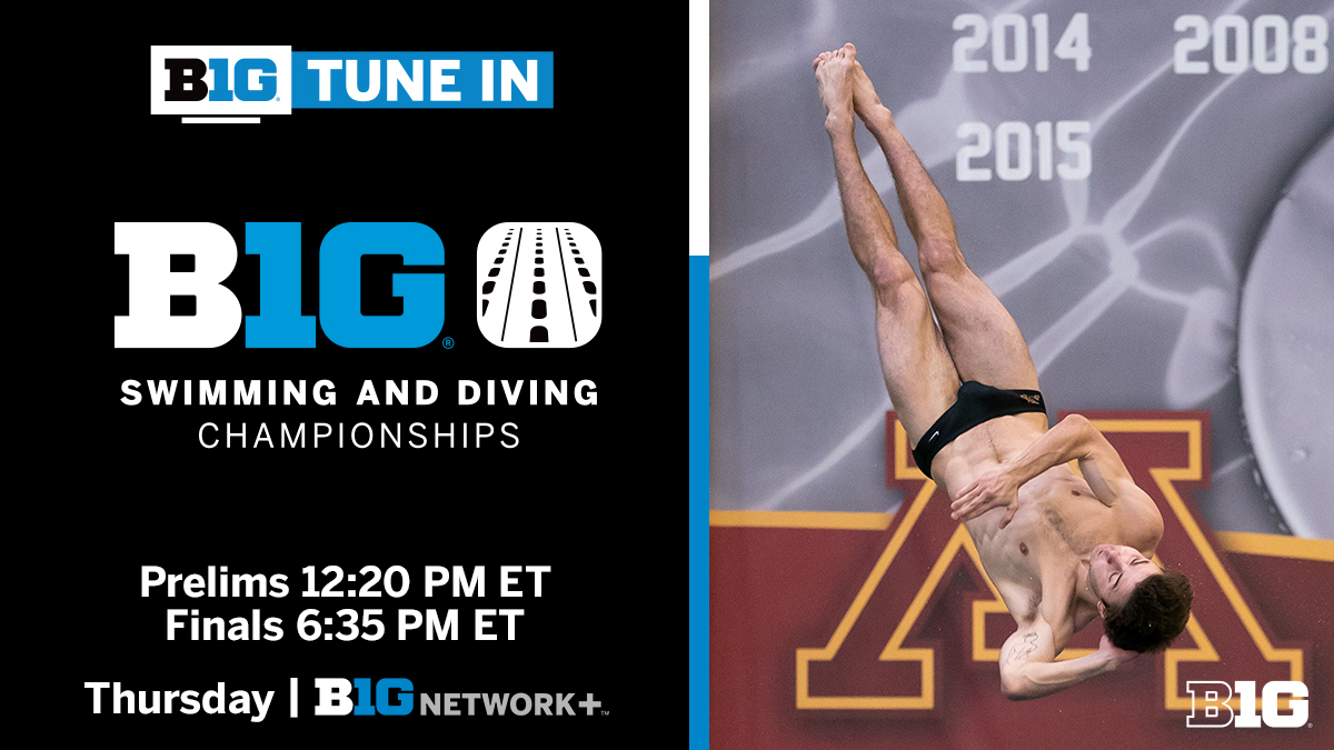 Big Ten Conference On Twitter B1g Tune In B1gsd Big Ten Diving Championships Thursday February 25 Prelims 12 20 Pm Et Finals 6 35 Pm Et Big Ten Network Https T Co Djvjzh8ryf