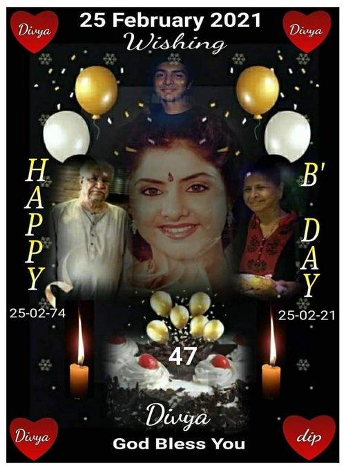 Happy Birthday to Late Divya Bharti