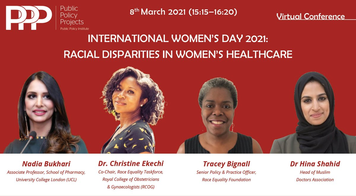 test Twitter Media - According to the @fawcettsociety, BAME people are more likely to have contracted Covid-19 and to have someone close to them affected.  Join @NadiaBukhariUCL, @DrEkechi, @raceequality & @hinajshahid to challenge racial disparities in women's healthcare. https://t.co/KcLPGCDft1