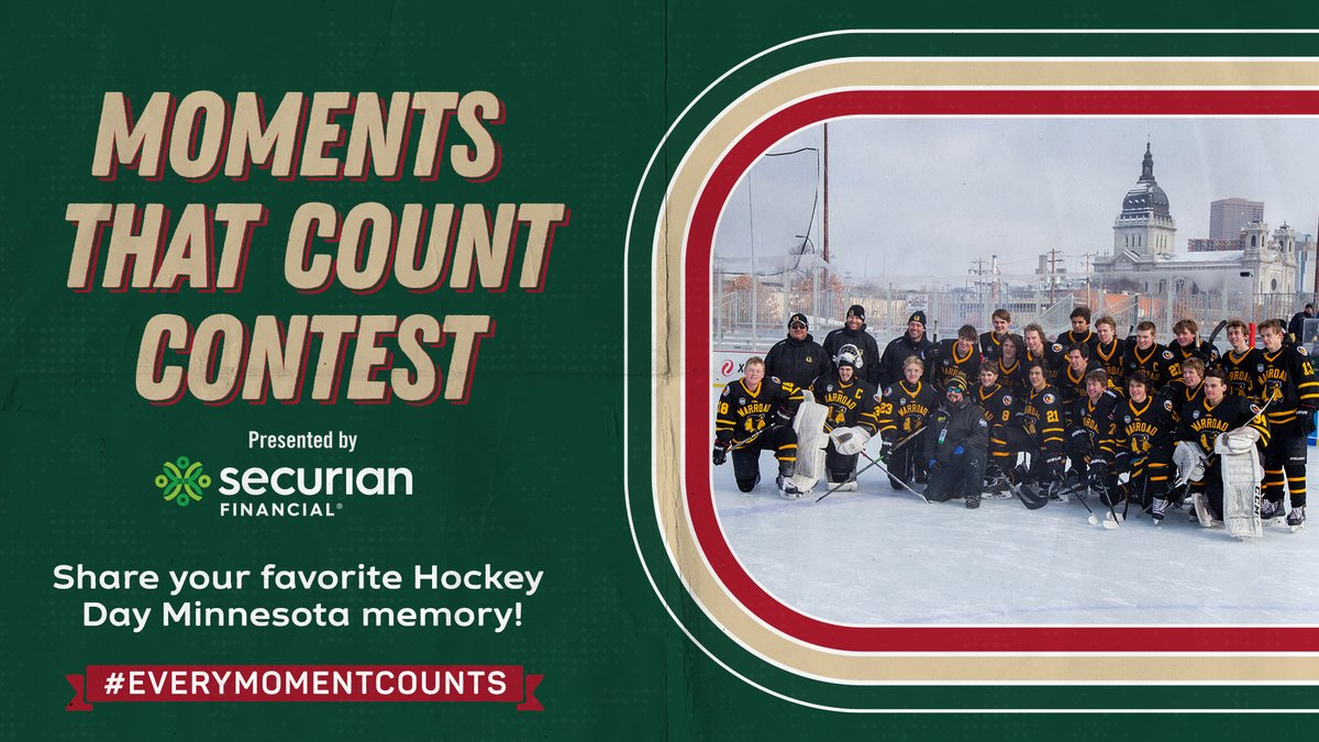 #HDM2021 is almost here!  Reply with your favorite @HockeyDayMN memory using #EveryMomentCounts for a chance to win a sweet #mnwild prize pack from @Securian!  Rules »