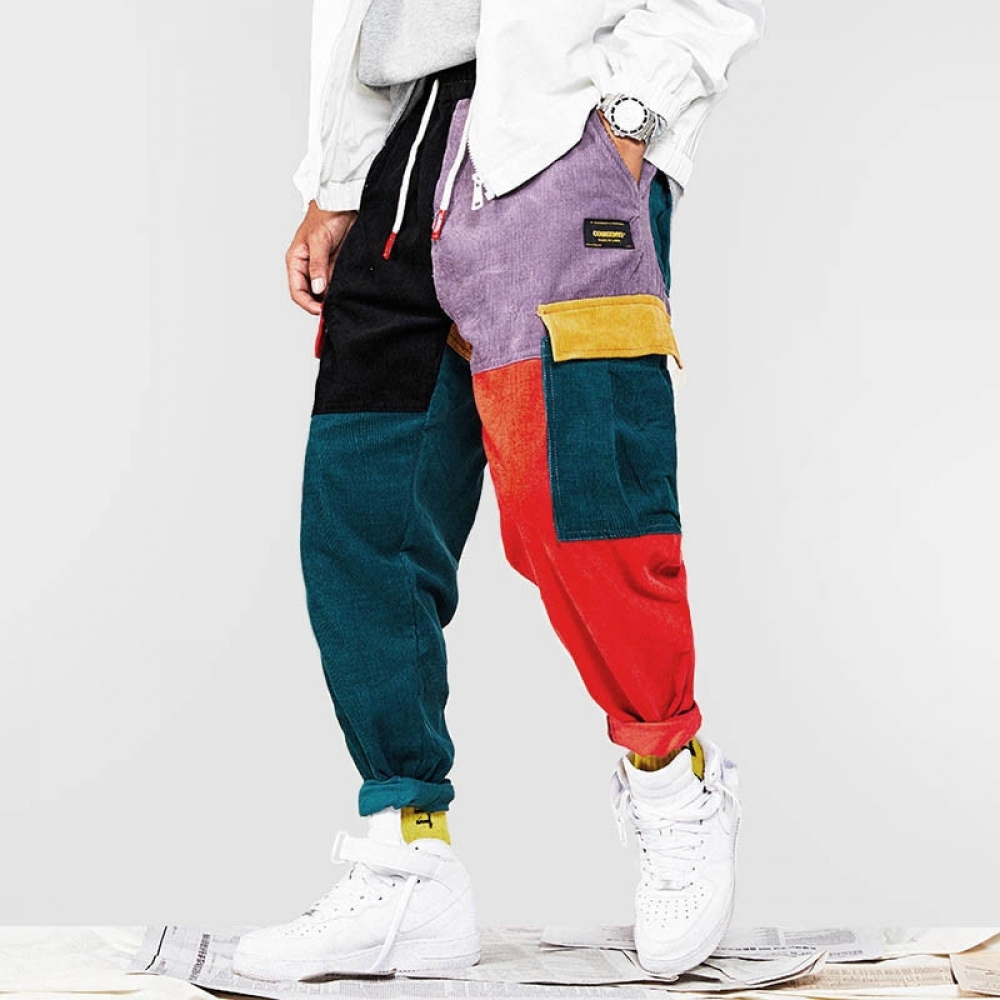Men's Patchwork Harem Pants #food #tflers