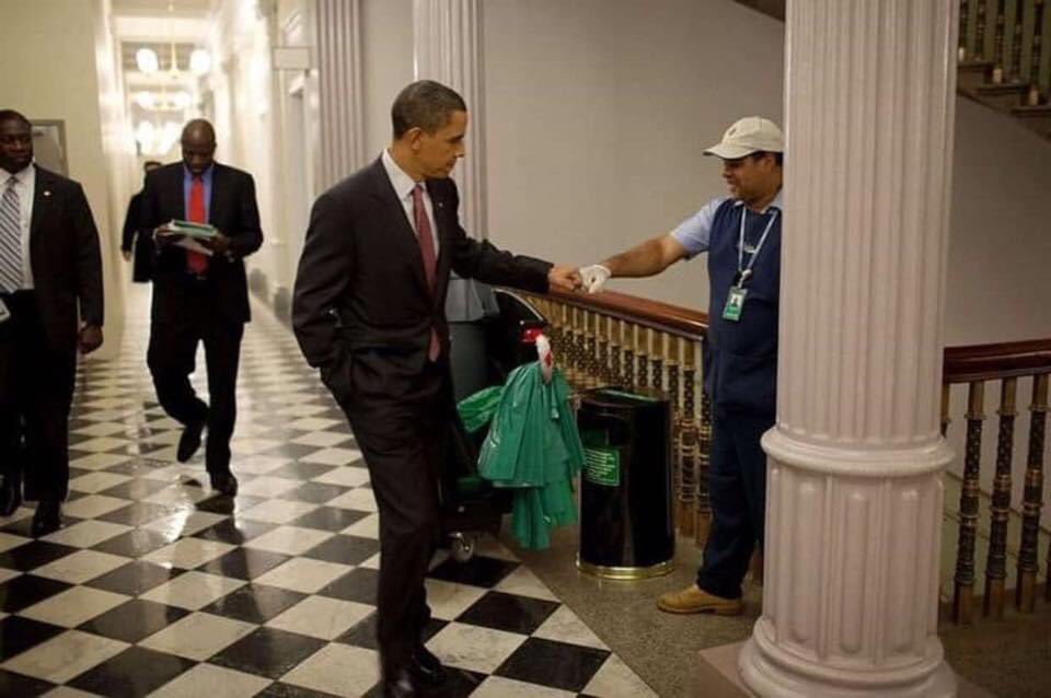"""I was raised to treat the janitor with the same respect as the CEO."" #thursdayvibes Greatest President @BarackObama"
