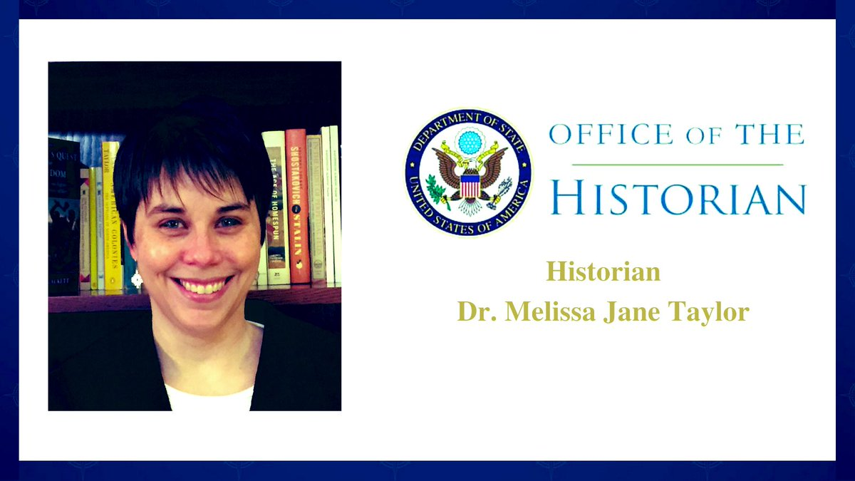 """In honor of #BHM, @HistoryatState co-hosted a lecture titled """"A History of African American Trailblazers in American Diplomacy."""" Historian Dr. Melissa Jane Taylor provided a history of African Americans @StateDept and how their actions fostered a more diverse diplomatic team."""
