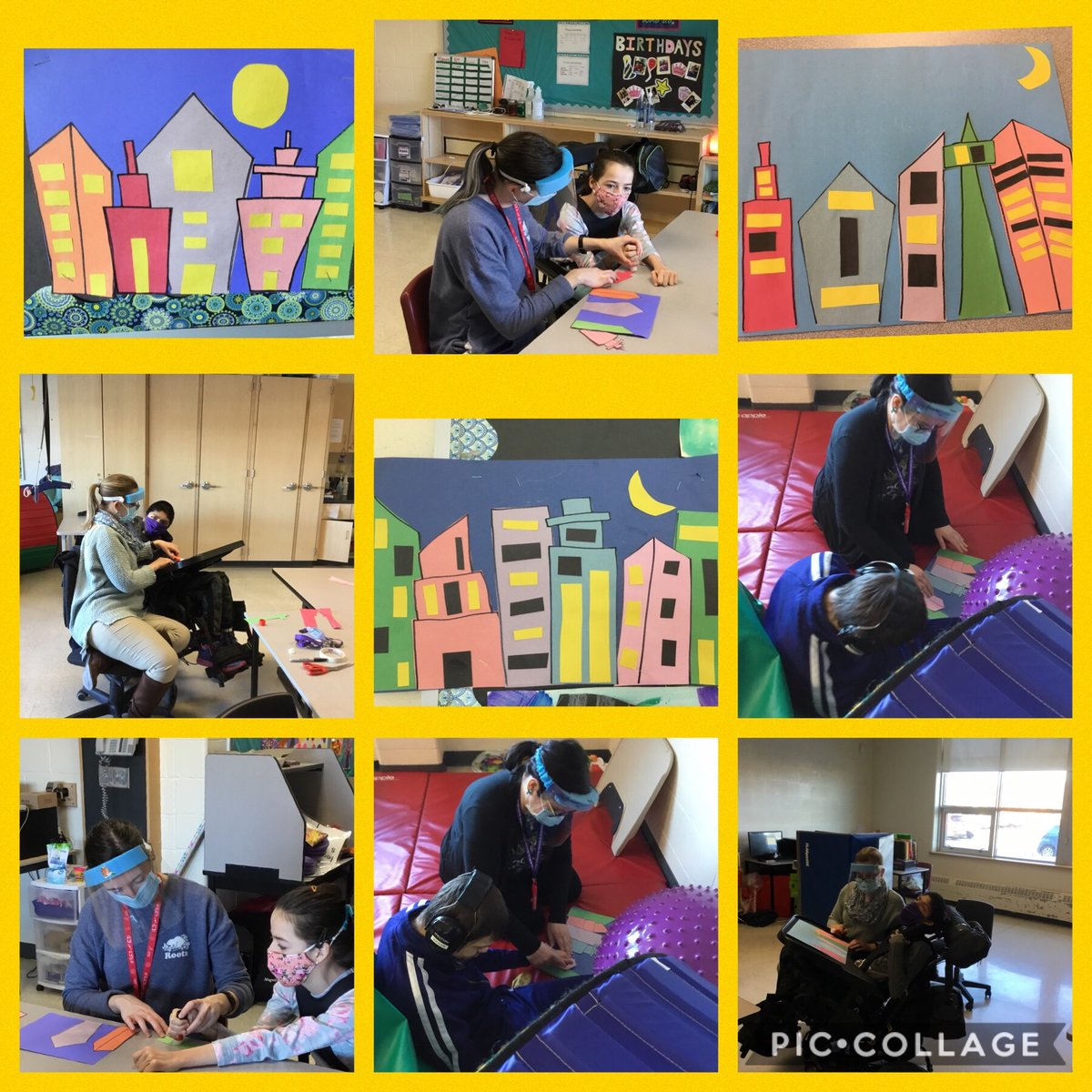 Today for Black History Month, we learned about the artist Jacob Lawrence and made city scapes. #BHM #artshare @PeelSchools @HMBSSBlizzards