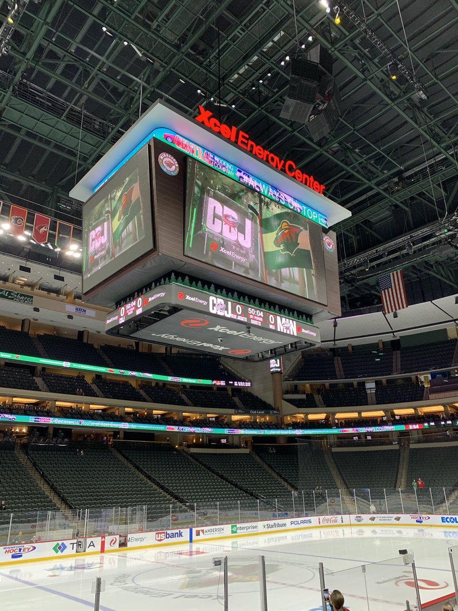 This was a year ago today. I miss Xcel so much. 😭😭😭 #mnwild