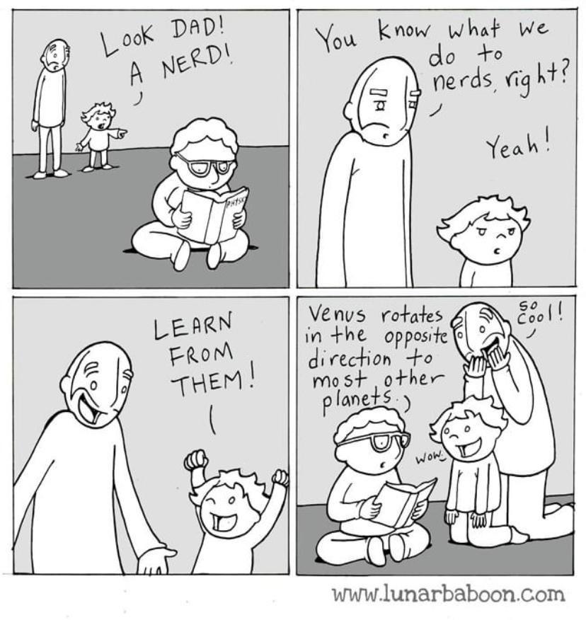 Let's all learn from nerds! 🙌  #thursdaymorning #thursdayvibes