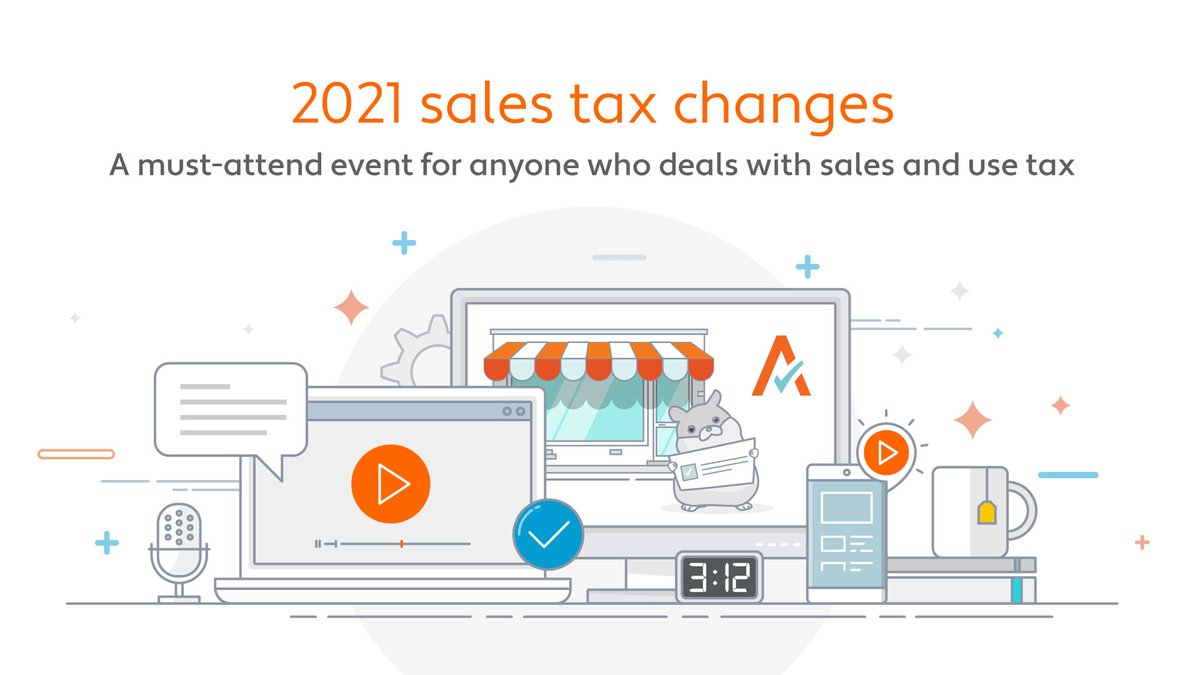 Join us today at 11 a.m. PT to stay updated on 2021 #salestax changes. Not only will you get vital information to help you succeed this year, attendees get a chance to win a free iPad!  https://t.co/nrmSWN0WOY https://t.co/Z7oM0NxoFO