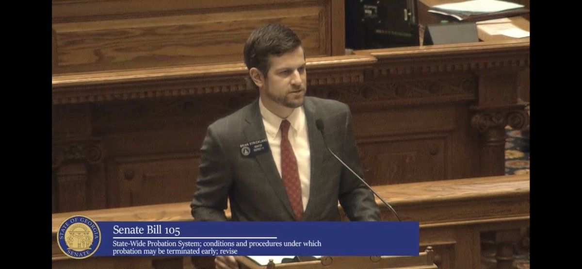 #GASenate unanimously passes @StricklandForGA's bill aimed at making #Georgia #ProbationReform work, a collaborative project of @gajustice, @FaithandFreedom, and @REFORM. Kudos! #criminalJusticeReform #gapol