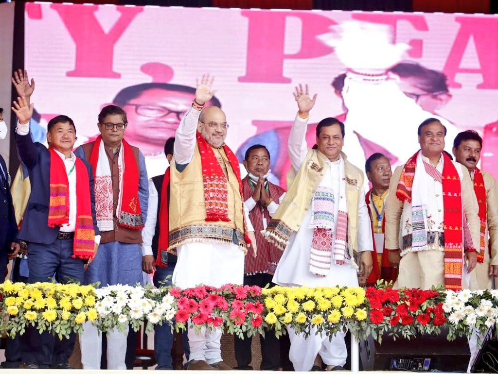 All roads led to Denarong, Karbi Anglong wherein Honble HM Shri @AmitShah along with CM Shri @sarbanandsonwal reiterated the commitment to bring holistic development to the region at the Unity, Peace and Development Rally, 2021.